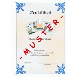 Lenormand Zertifikat Fernkurs I nach Prüfung
