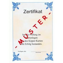 Zertifikat für Kartenleger im Bereich Kipperkarten Fernkurs mit Zertifikat