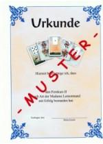 Urkunde Lenormand Fernkurs II Prüfung